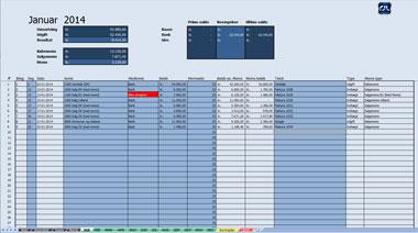 Nem og enkel bogføring i excel regnskabsprogram